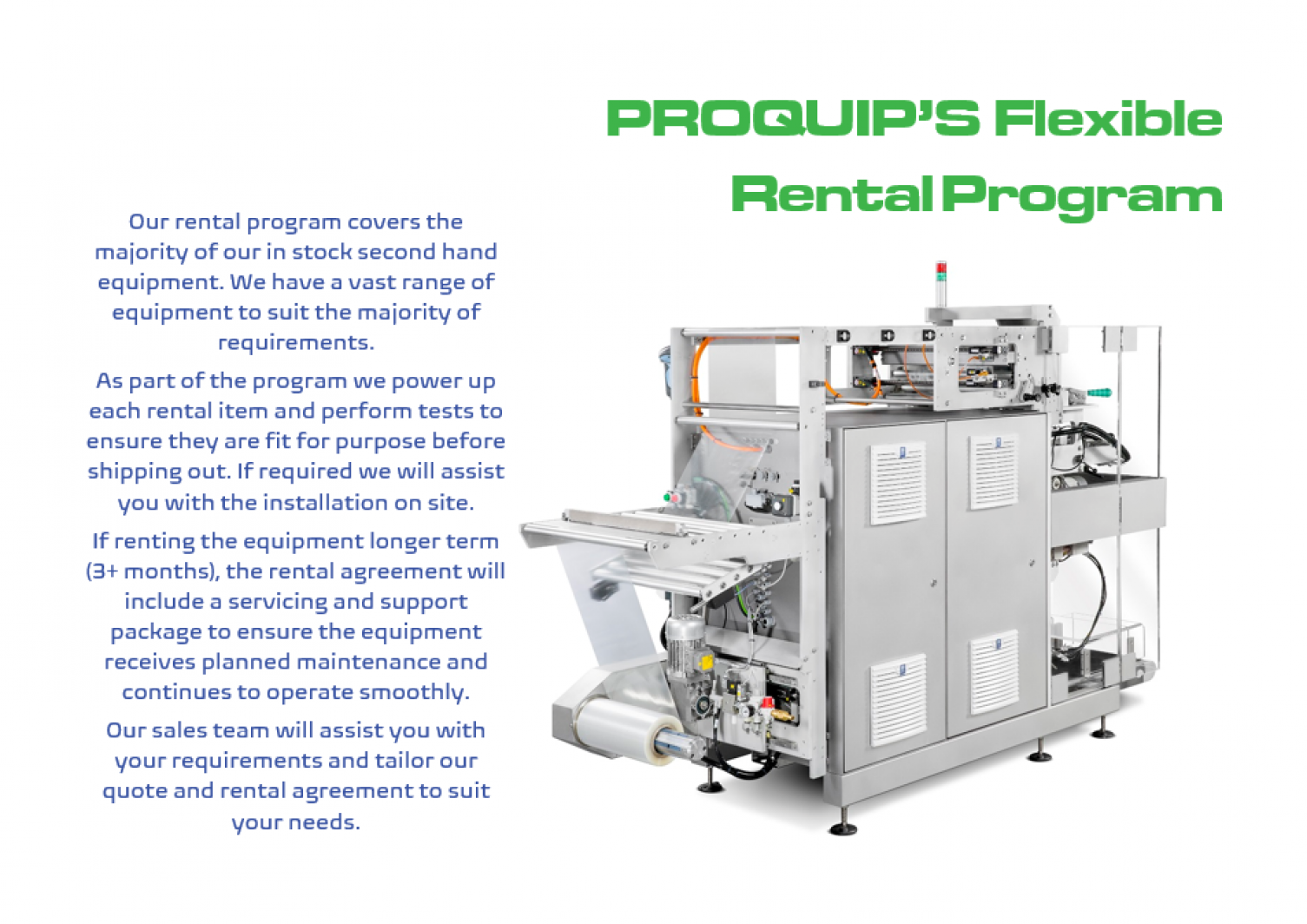 An overview of what the rental program entails