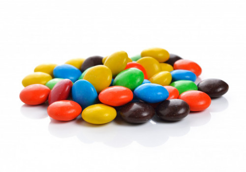 colorful candy white background